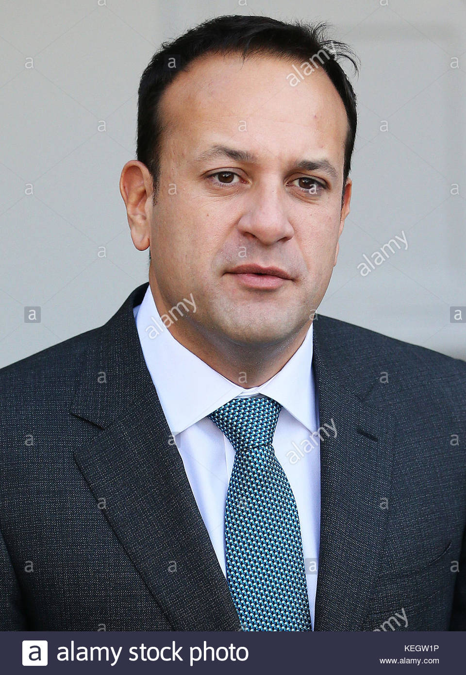 File photo dated 28/07/17 of Taoiseach Leo Varadkar who has expressed frustration at the length of time the powersharing - Stock Image
