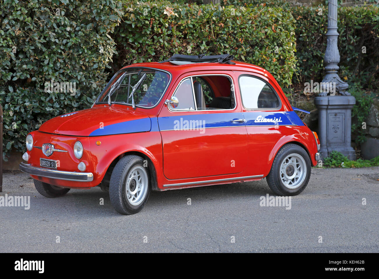 A Classic Vintage 1970 Fiat 500 Giannini Florence Tuscany Italy