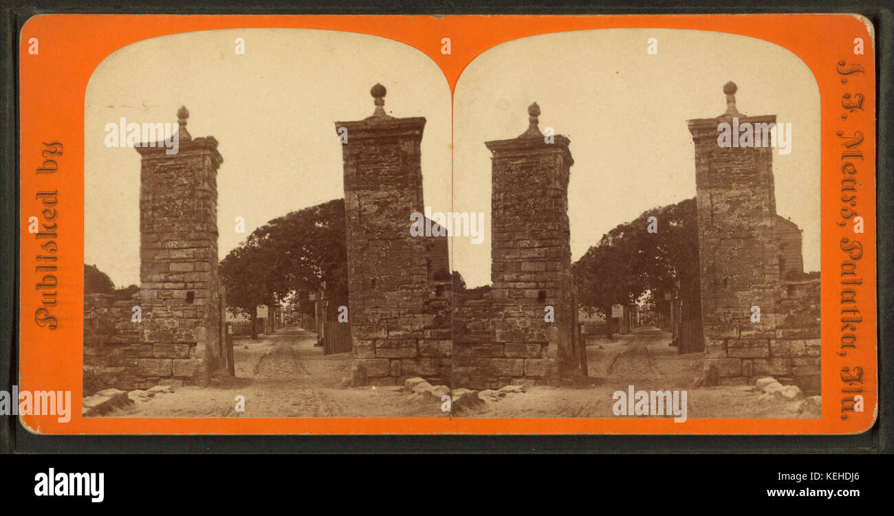 City gate. St. Augustine, Fla, from Robert N. Dennis collection of stereoscopic views 2 Stock Photo
