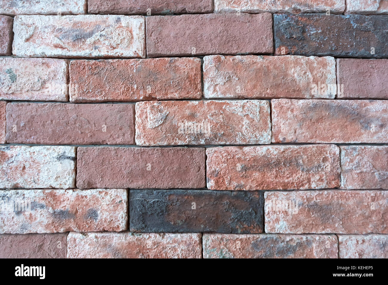Close-up detailed brick wall that show texture, detail, can used as graphic resource, wallpaper, background - Stock Image