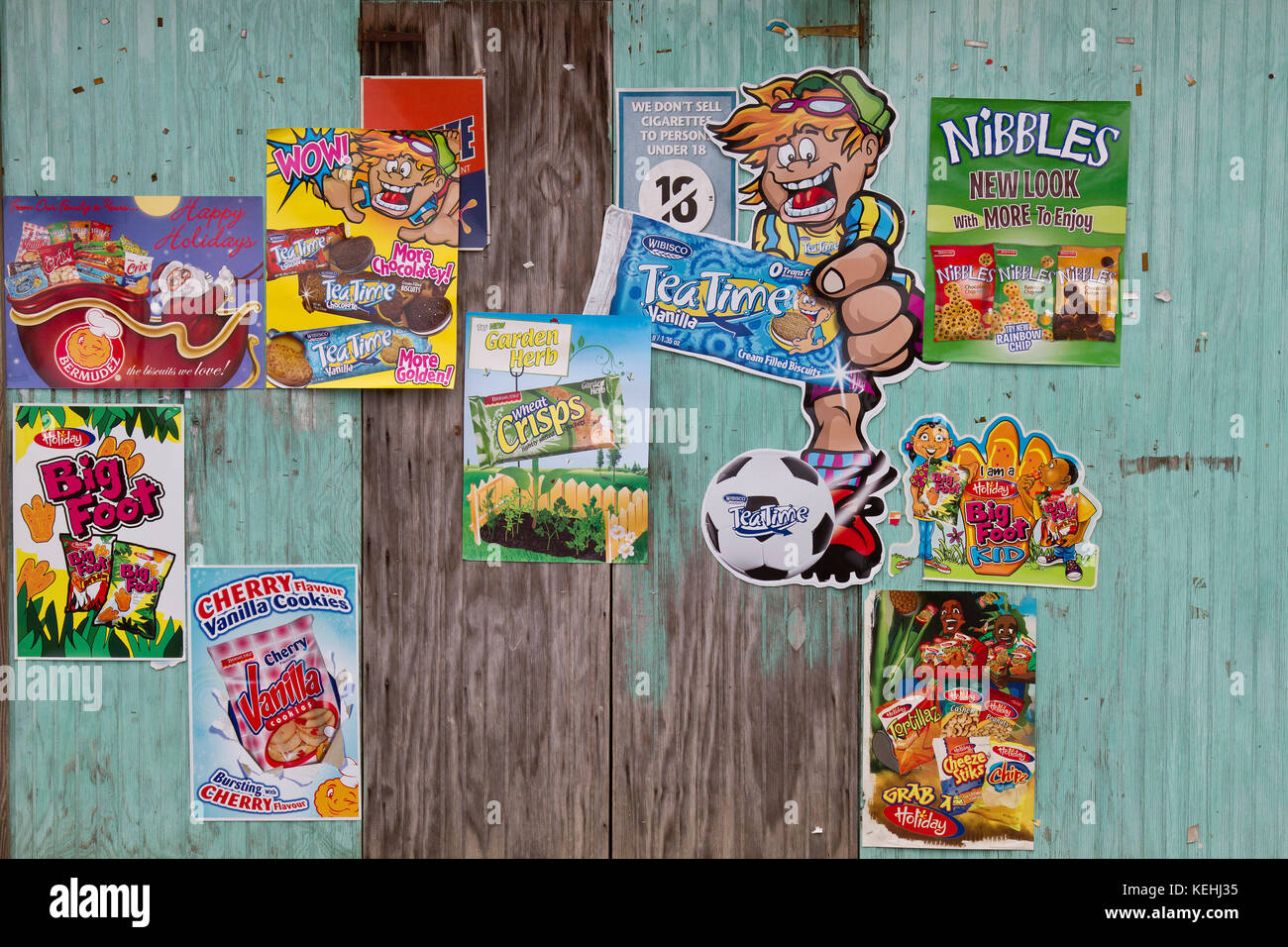 Advertising on a wall in Tobago, West Indies - Stock Image