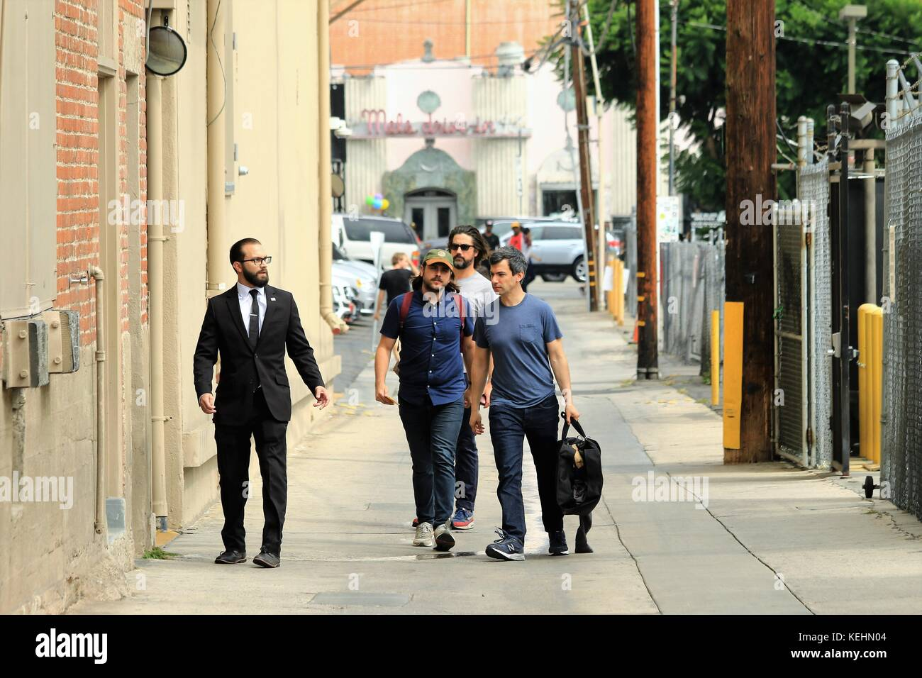 Nathan Fielder arrives at the ABC Studios for an appearance on 'Jimmy Kimmel Live!'  Featuring: Nathan Felder - Stock Image