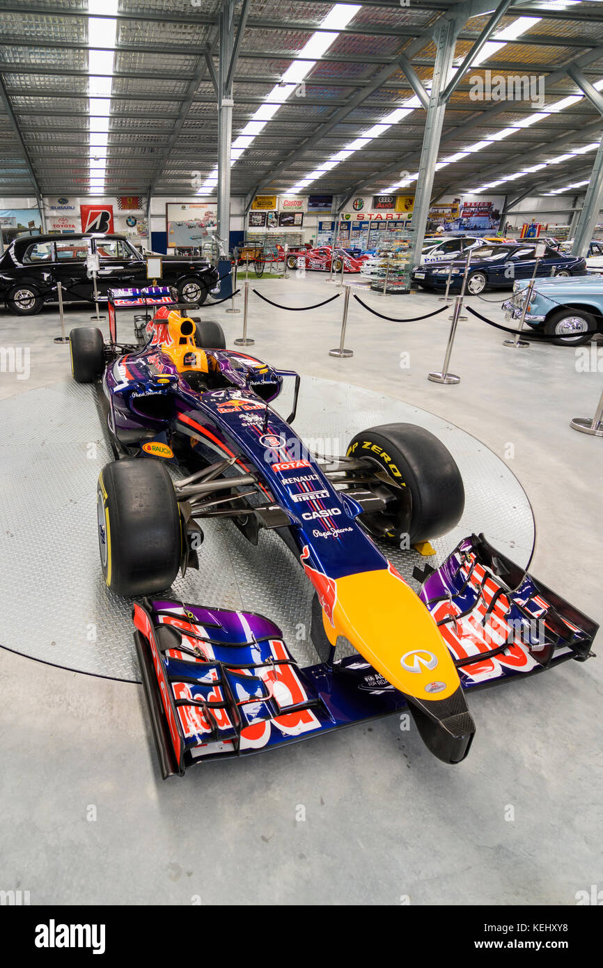 Daniel Ricciardo's Red Bull Formula 1 racing car on display at the Motor Museum of WA, Whiteman Park in the Swan - Stock Image
