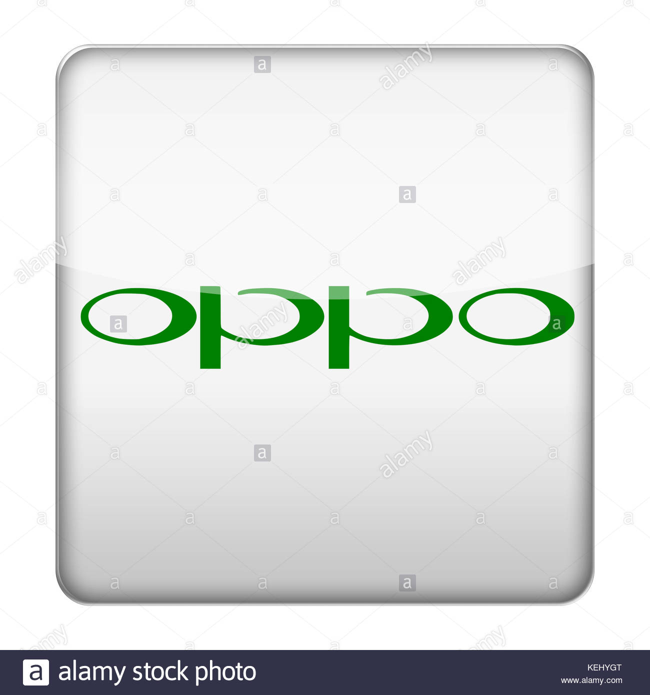 Oppo electronics logo icon button - Stock Image