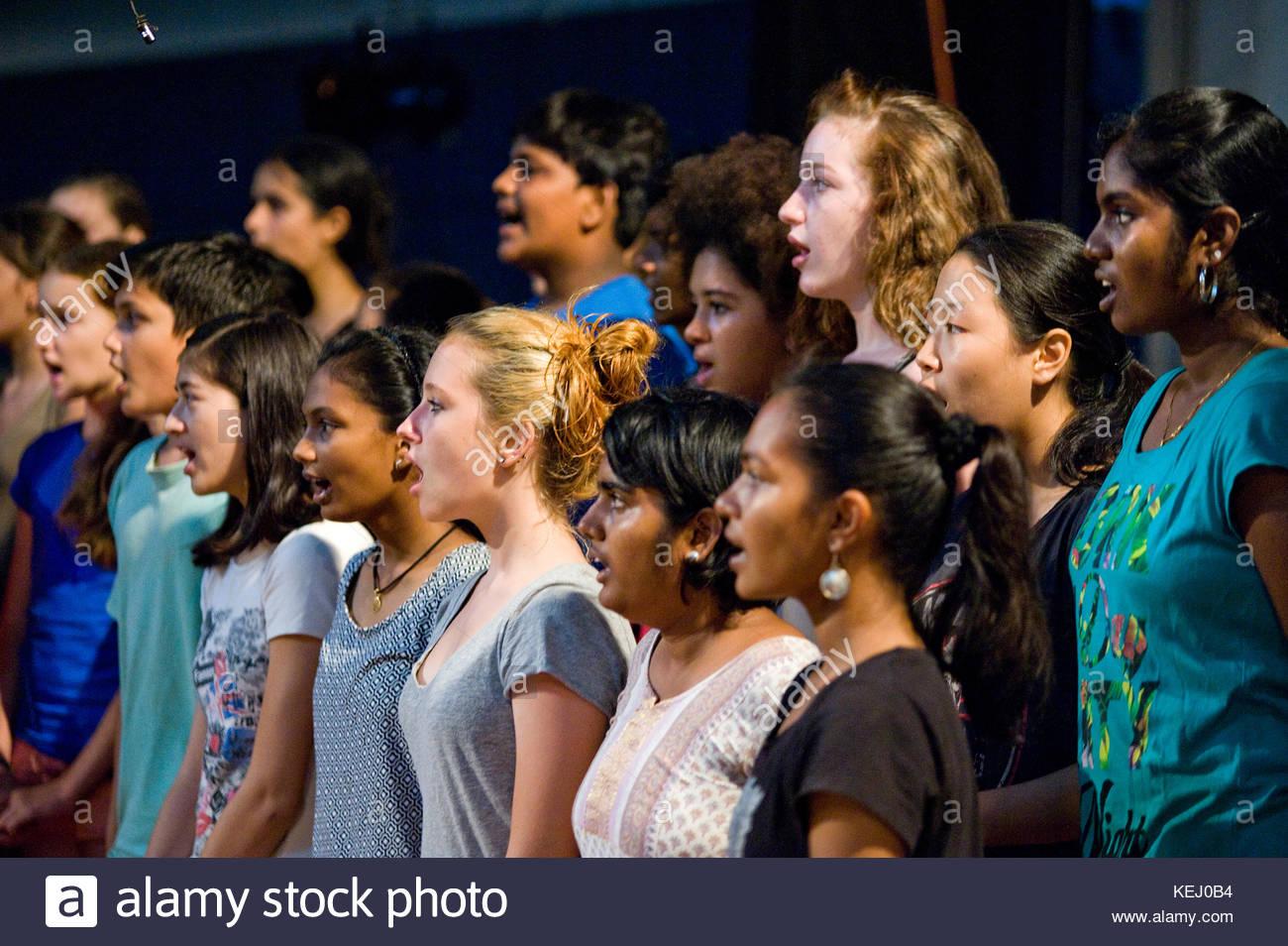 The Auroville Choir Stock Photo