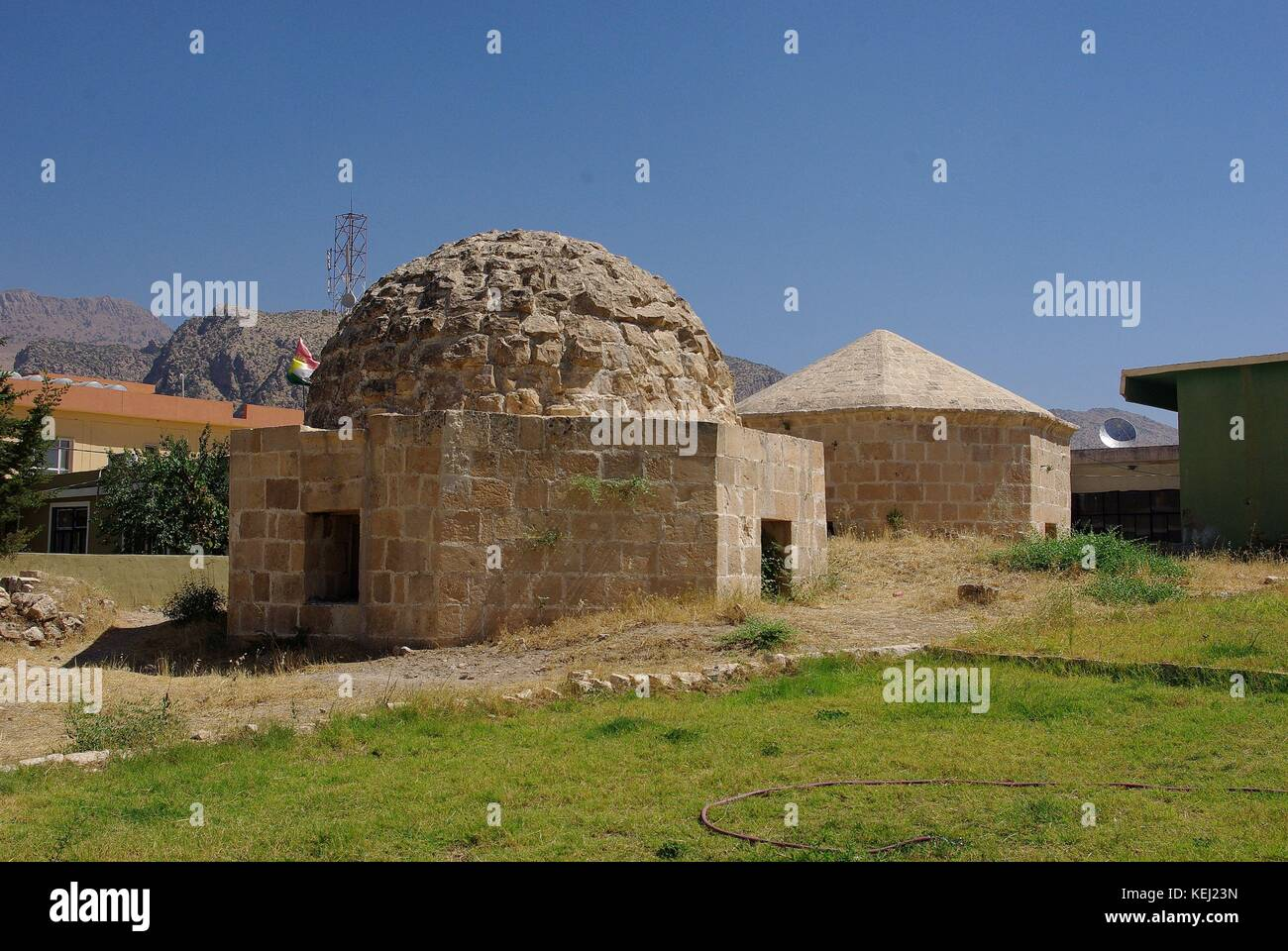 the old town of Amedi (Amediyah) in Iraq - Kurdistan - Stock Image