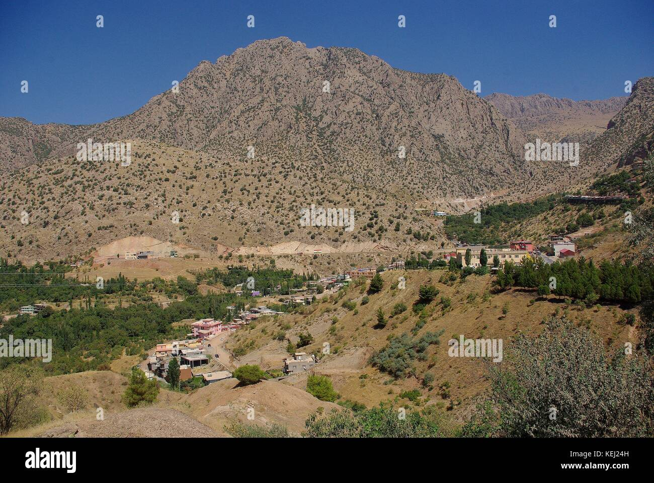 the Landscape around Amedi (Amediyah) in Iraq - Kurdistan - Stock Image