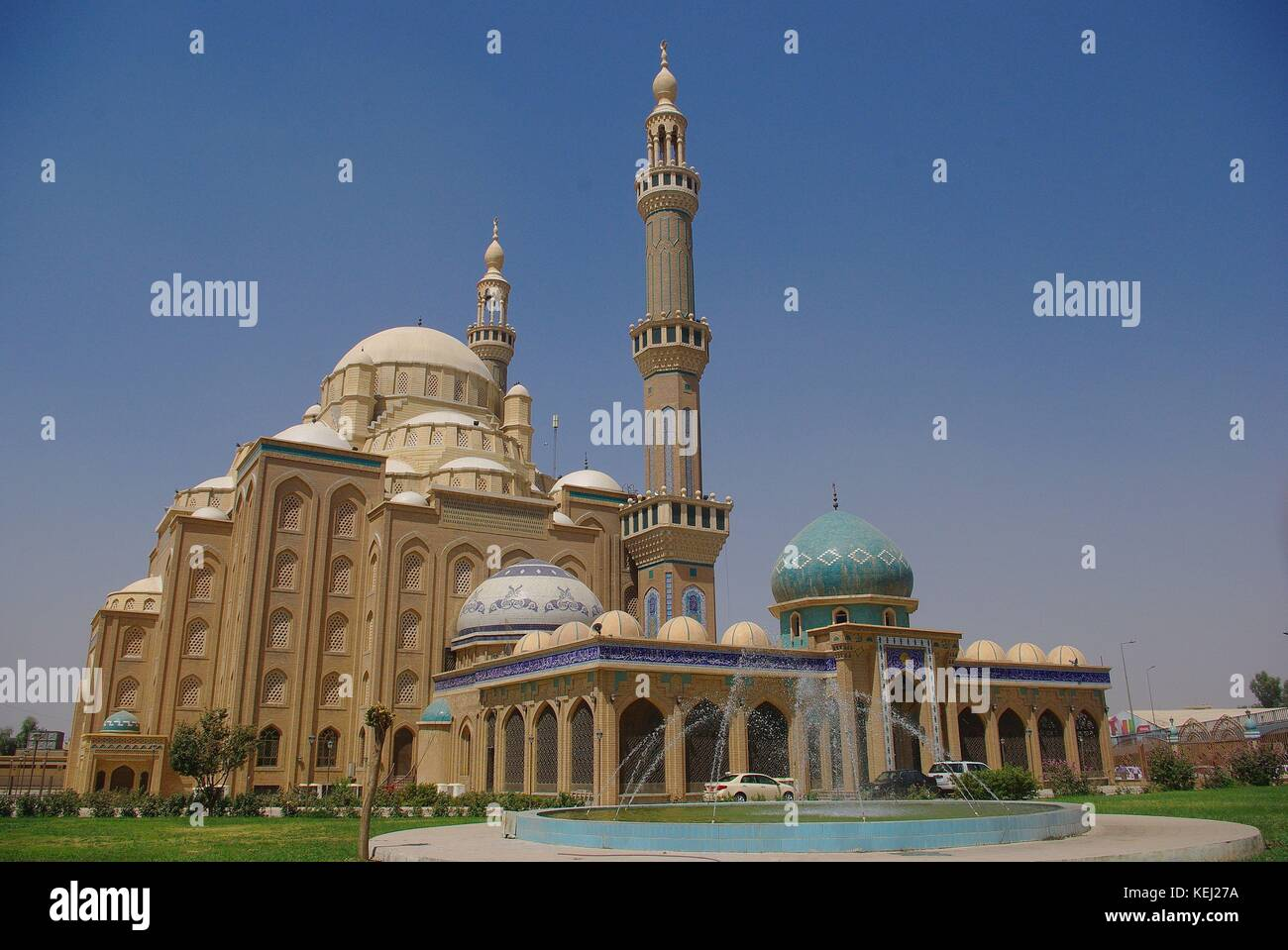Erbil, the capital of Iraqi Kurdistan: the new built mosque - Stock Image