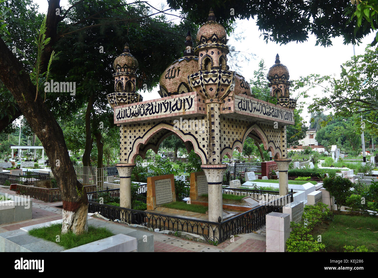 Dhaka Banani Graveyard Stock Photo