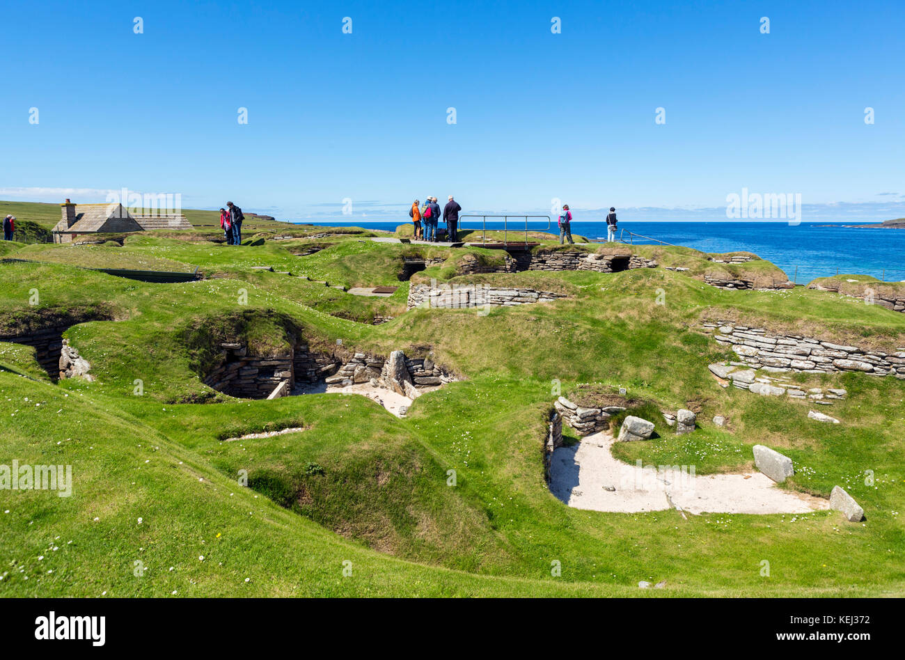 Neolithic settlement of Skara Brae, Mainland, Orkney, Orkney Islands, Scotland, UK - Stock Image
