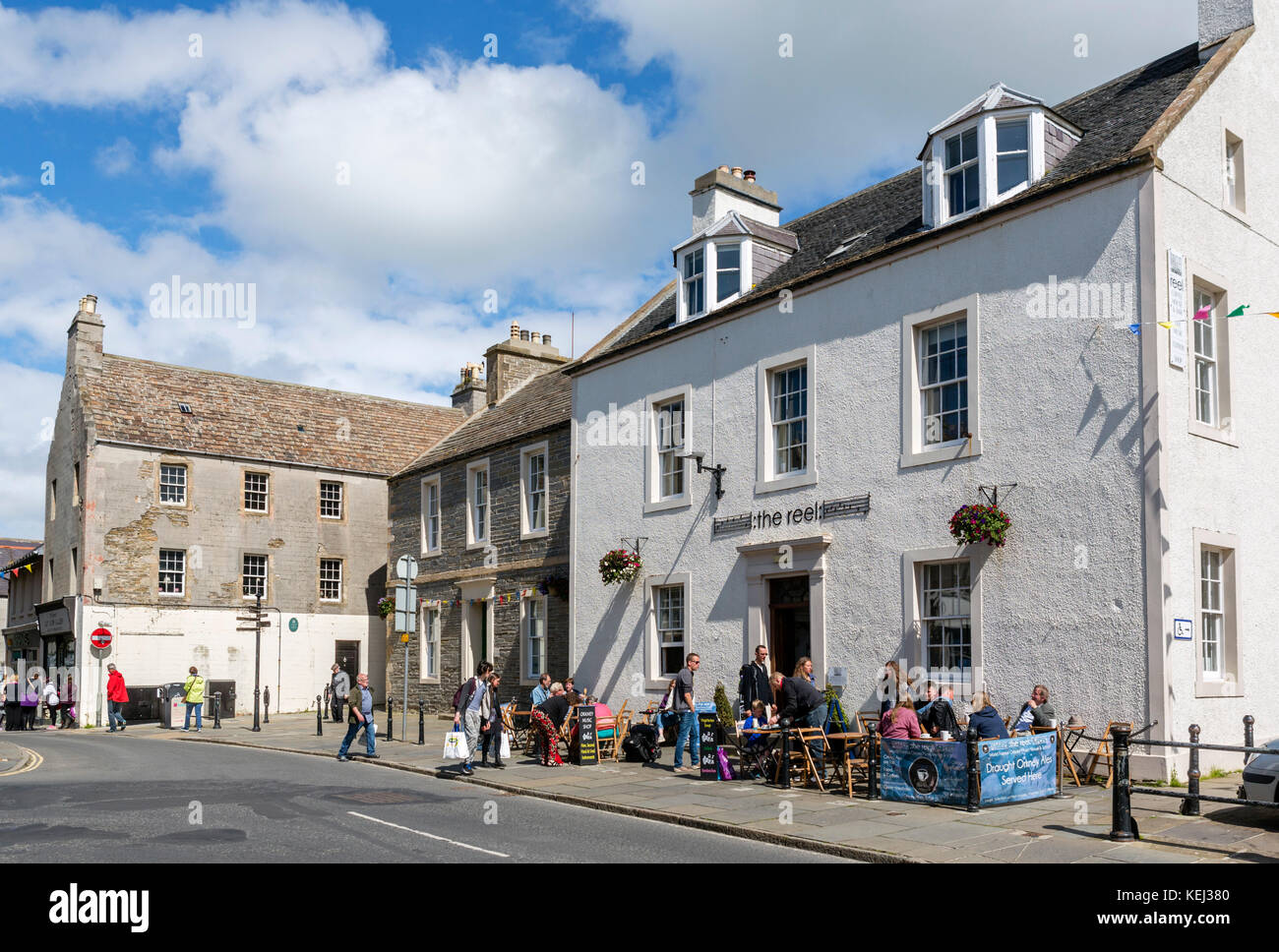 The Reel cafe on Broad Street in the town centre, Kirkwall, Mainland, Orkney, Scotland, UK - Stock Image