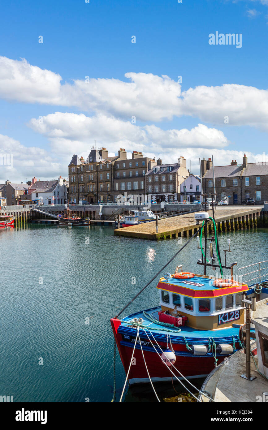 The harbour in Kirkwall, Mainland, Orkney, Scotland, UK - Stock Image