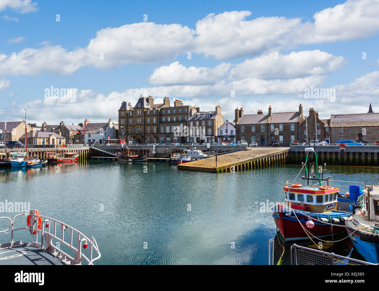 The harbour in Kirkwall, Mainland, Orkney, Orkney Islands, Scotland, UK Stock Photo