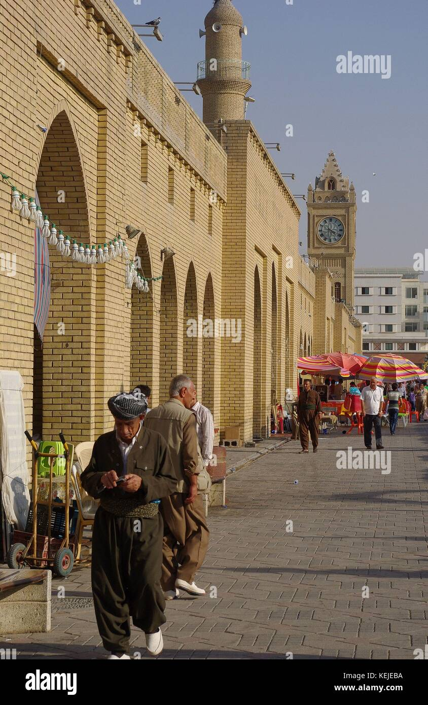 Erbil, the capital of Iraqi Kurdistan: The Main Square at Kirkuk Road - Stock Image