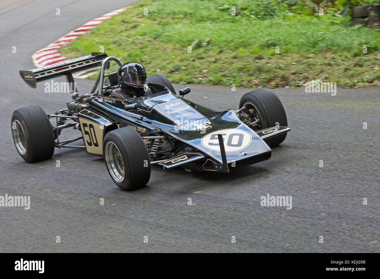 Lotus 61MX being driven by Kendrick Lewis at the Autumn Speed Finale at Shelsley Walsh Hill Climb, Worcestershire, - Stock Image