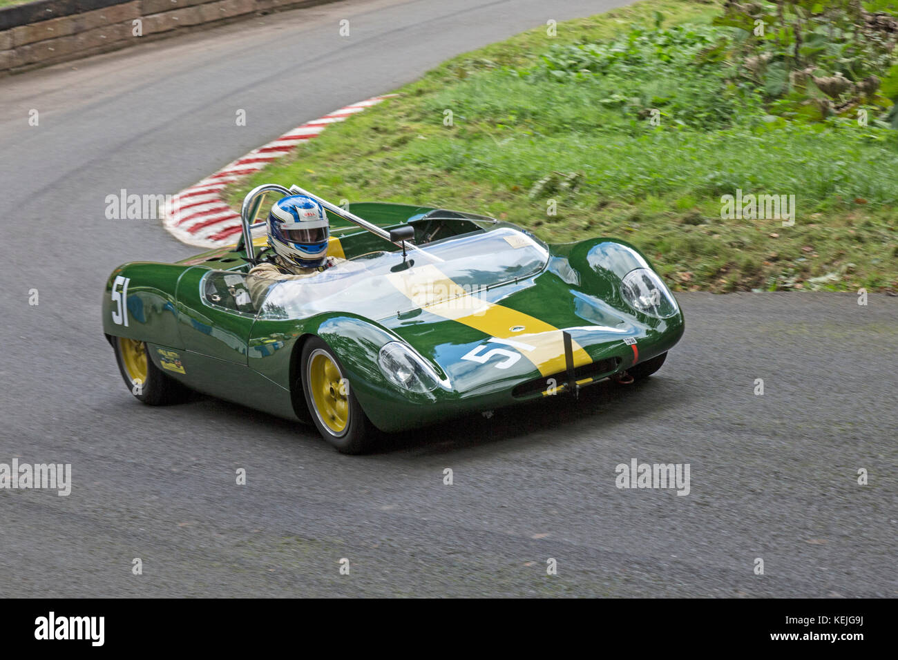 Lotus 23B being driven by Stephen Palmer at the Autumn Speed Finale at Shelsley Walsh Hill Climb, Worcestershire, - Stock Image