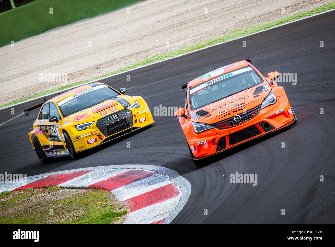 Vallelunga, Italy september 24 2017  Touring Audi rs3 and