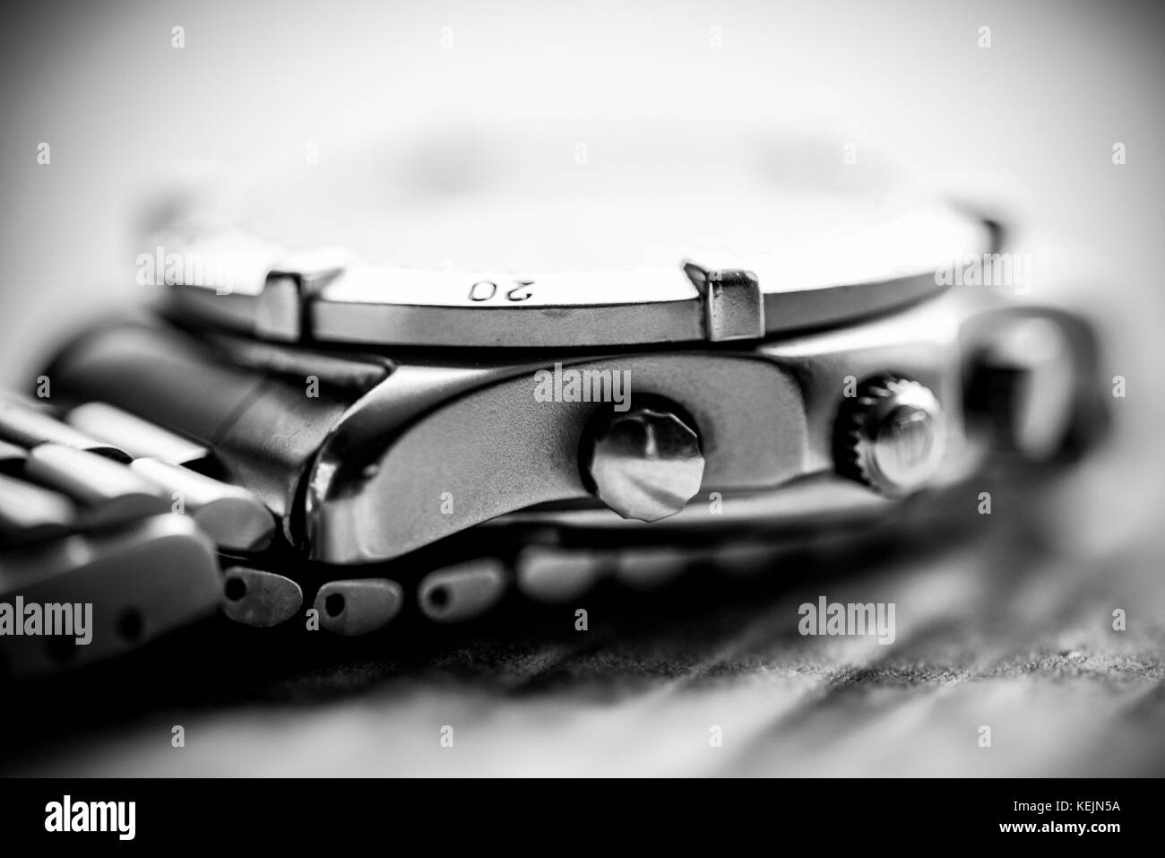 Macro shot of wrist watch - Stock Image