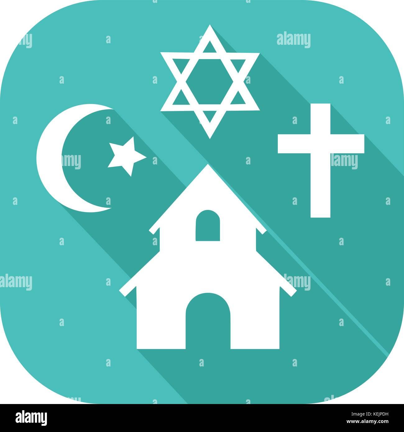 Symbols Icon Of Different Religions Stock Vector Art Illustration