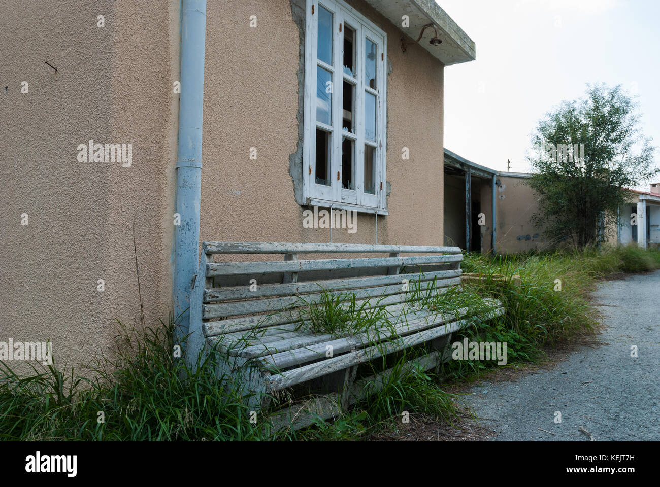 Abandoned sanatorium - hospital room - Stock Image
