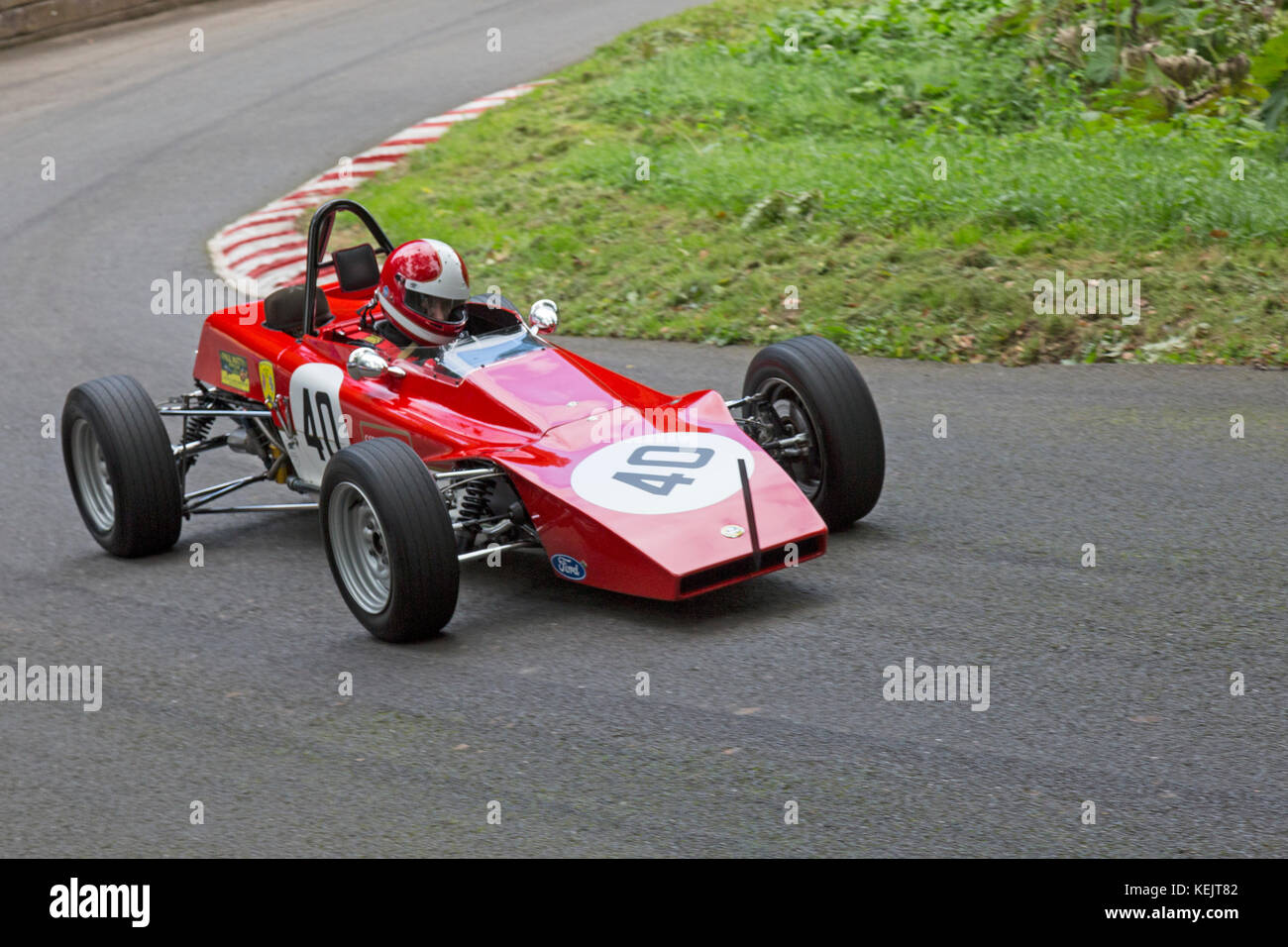 Lotus 61 being driven by Cive Buffey at the Autumn Speed Finale at Shelsley Walsh Hill Climb, Worcestershire, England, - Stock Image