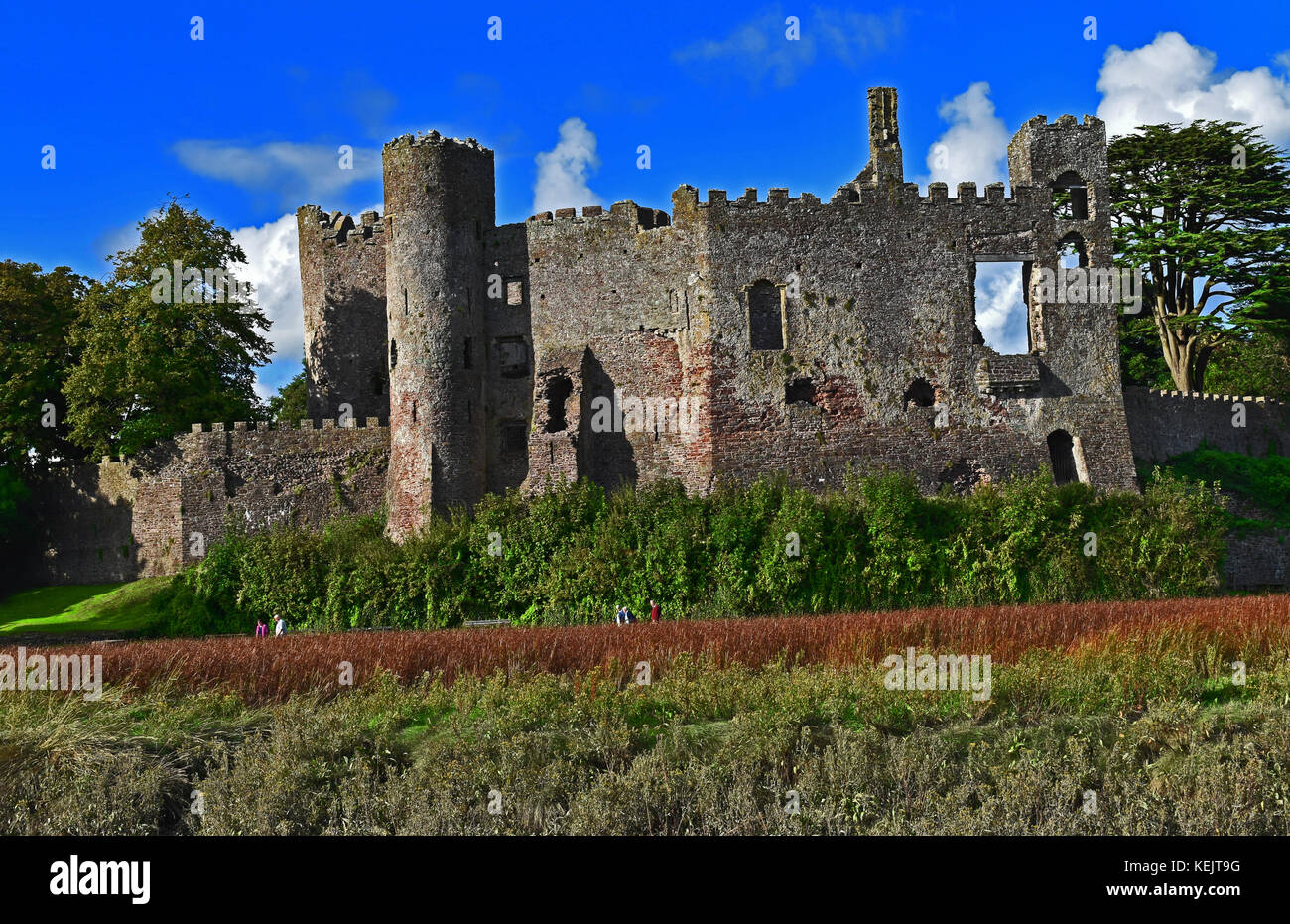 Laugharne Castle, Wales, UK - Stock Image