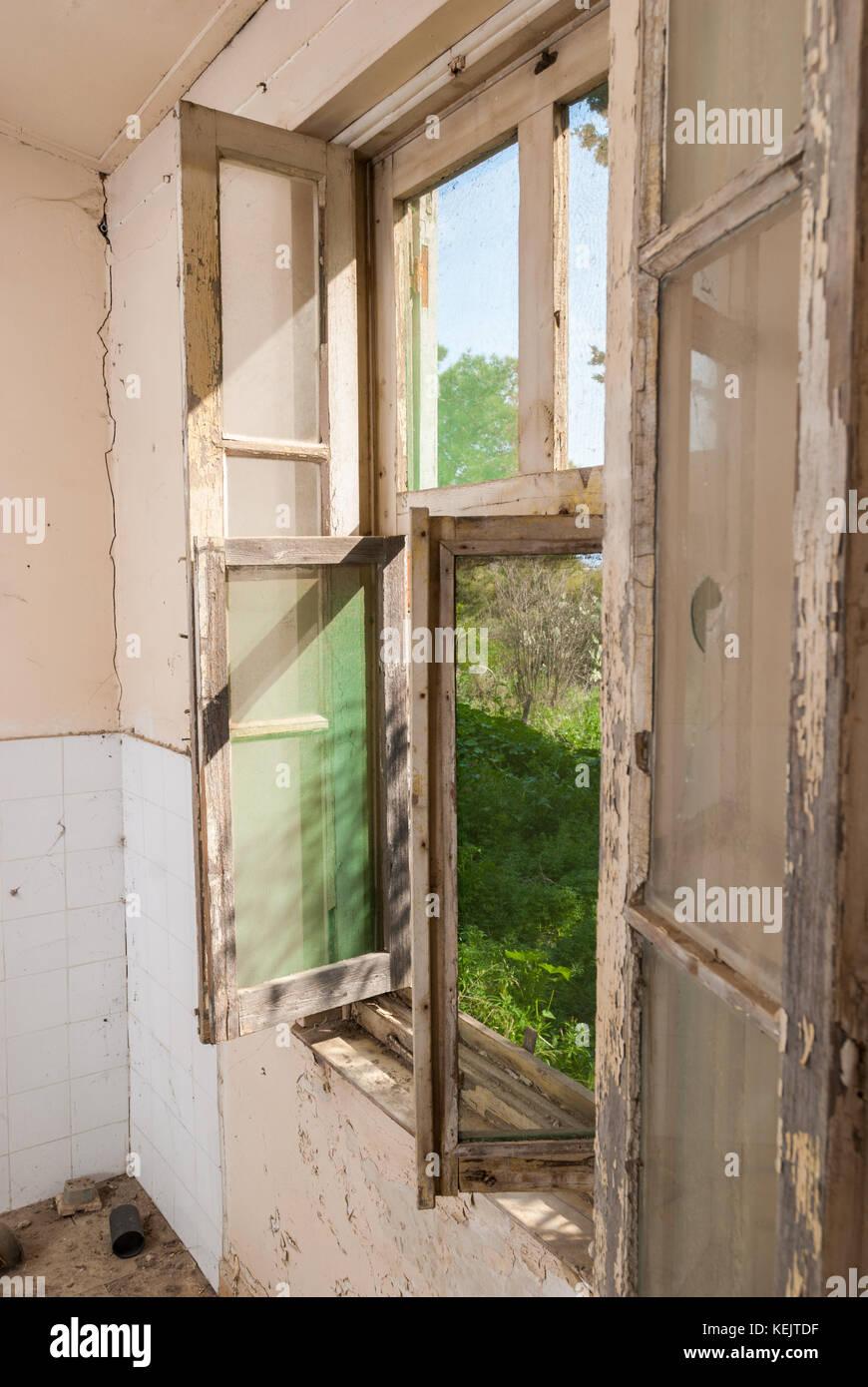 Abandoned sanatorium - hospital room - Stock Image