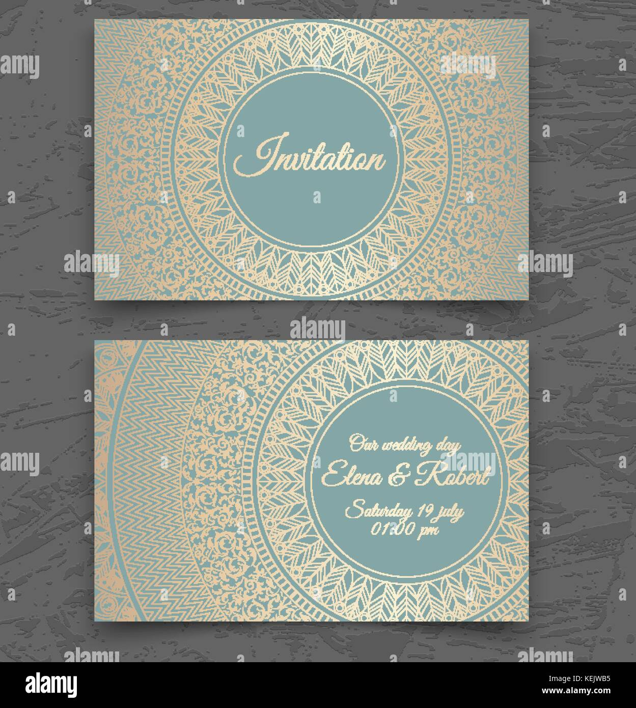 Vintage wedding invitation or business card templates. Cover design ...