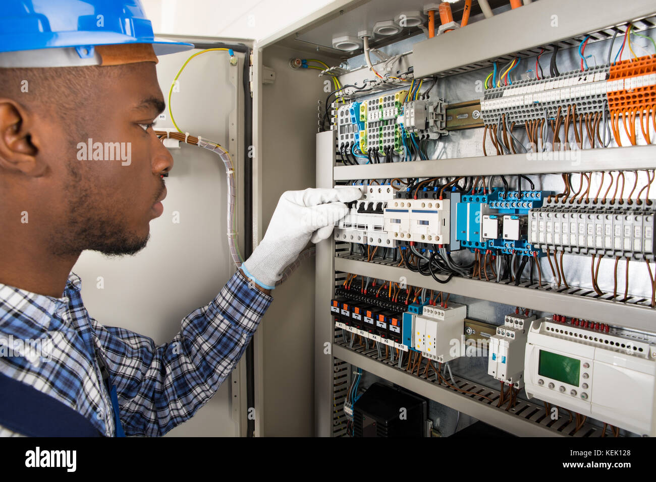 Person Fuse Box Simple Wiring Diagram Breaker Check And Stock Photos Images Circuit