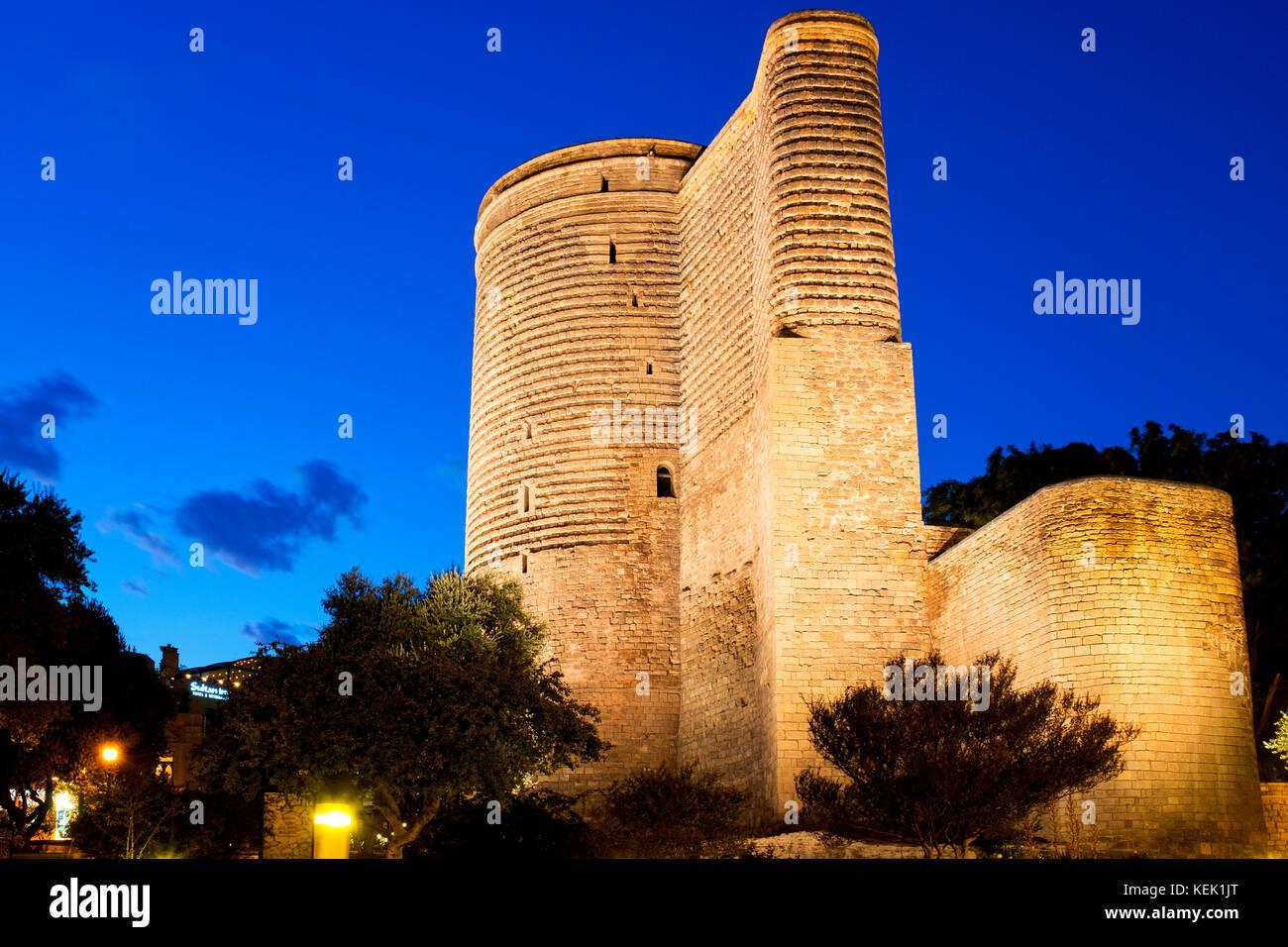 Maiden Tower, Baku, Azerbaijan - Stock Image