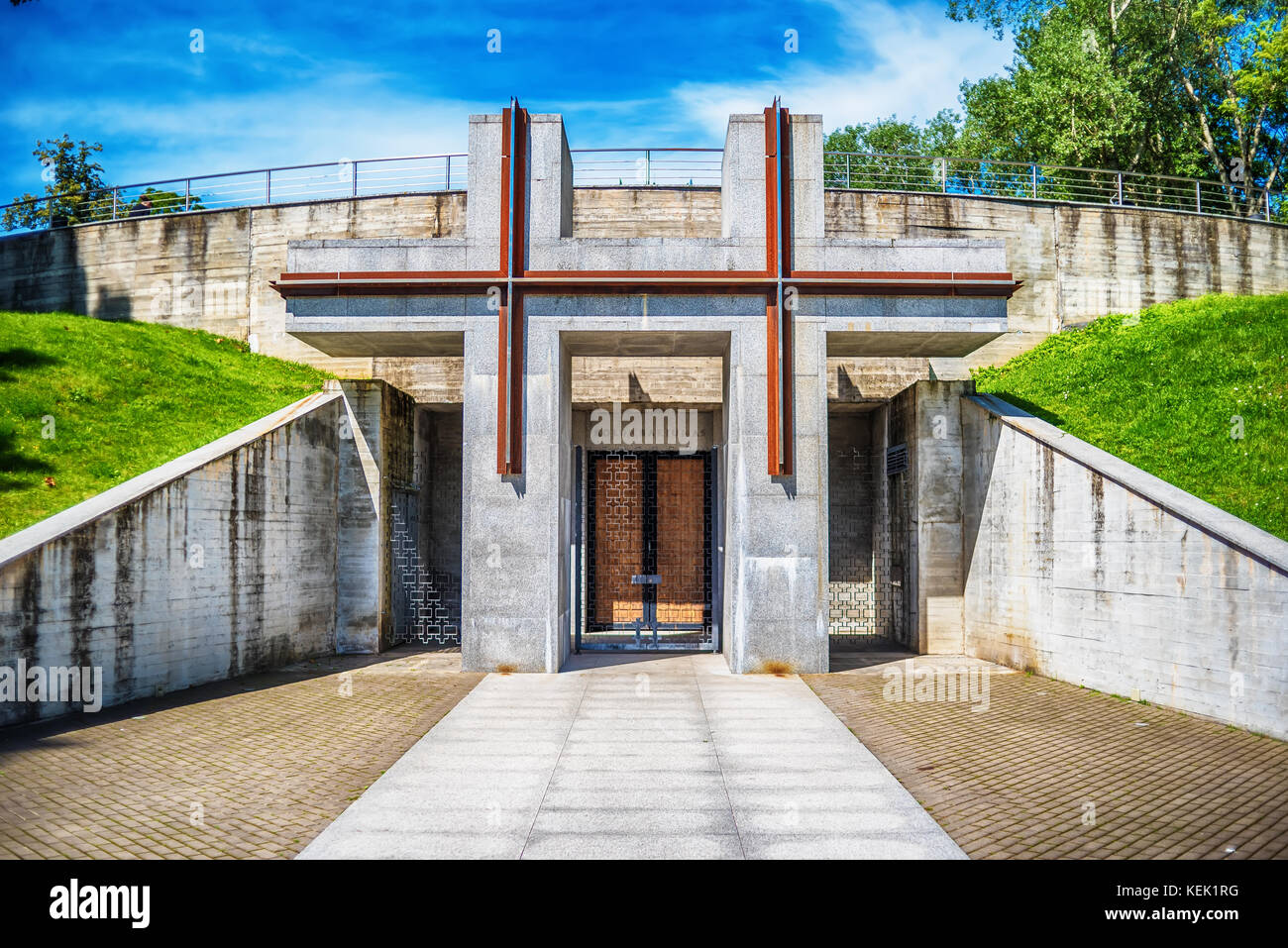Vilnius, Lithuania: The Memorial Complex of the Tuskulenai Peace Park, where the victims of soviet NKVD-KGB repressions - Stock Image