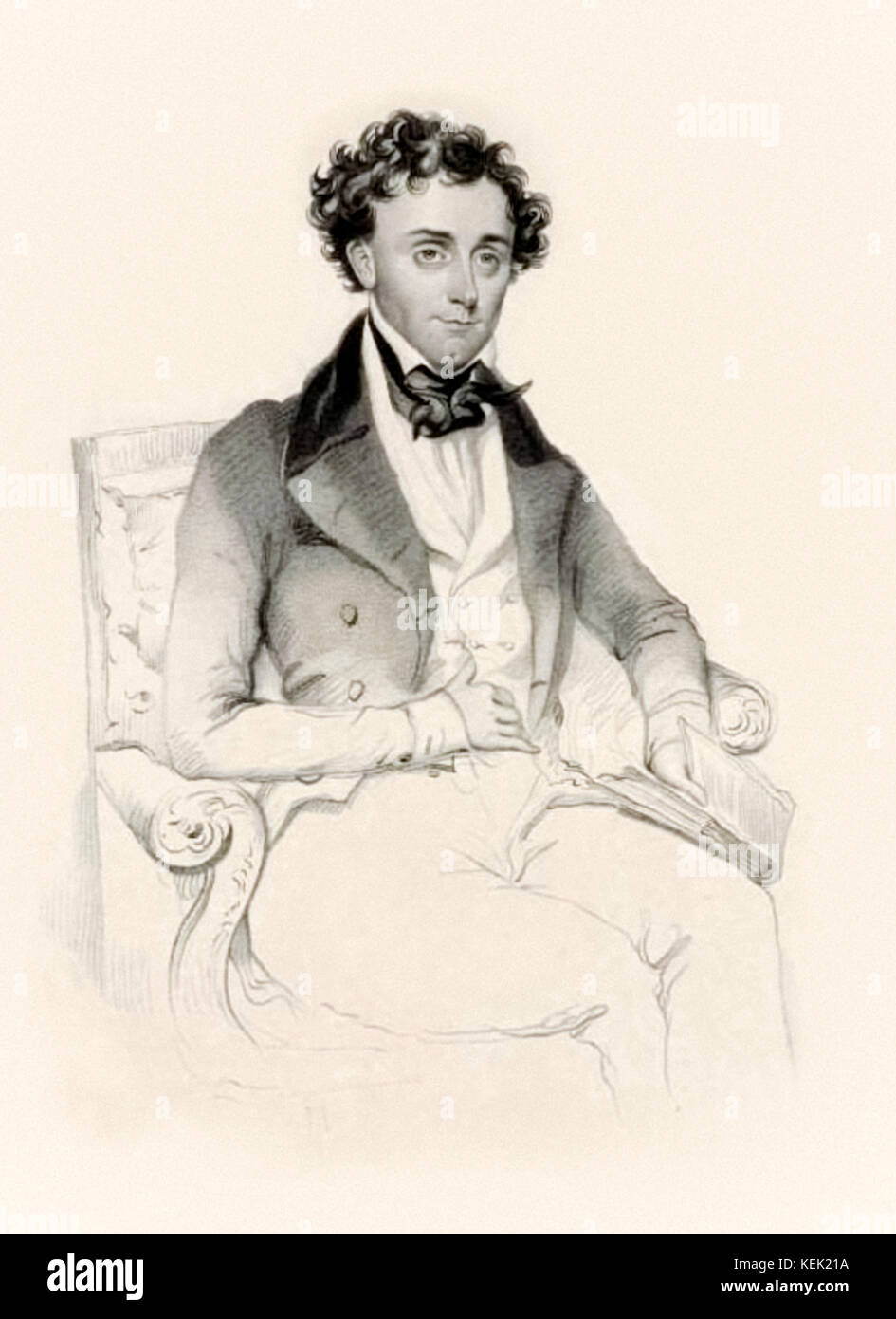 Thomas Dartmouth Rice (1808-1860), white American playwright and stage performer actor who performed in blackface - Stock Image