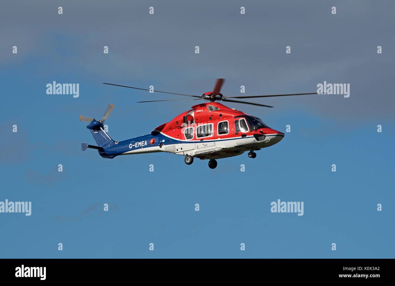 New in service for CHC - EC H175 6 Bladed rotary aircraft, based at Aberdeen Dyce airport. - Stock Image