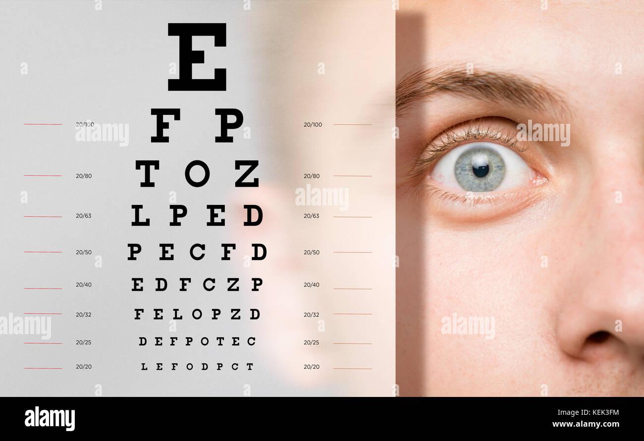 ophthalmology eye  check-up - Stock Image