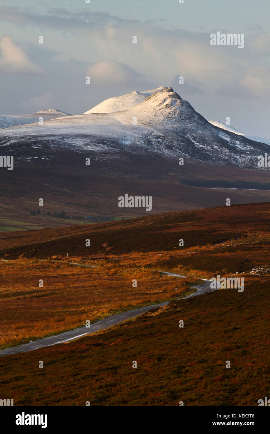 Maiden Pap and Morven mountains, Caithness - Stock Image