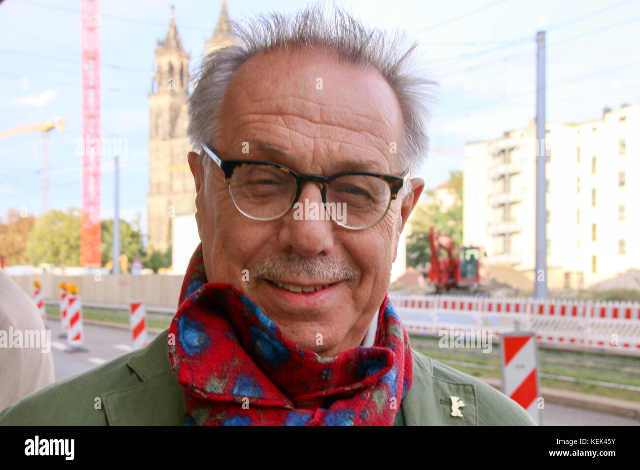 MAGDEBURG, GERMANY - September 15, 2017: The head of the Berlinale Film Festival, Dieter Kosslick, He criticized US film producer Harvey Weinstein. Stock Photo