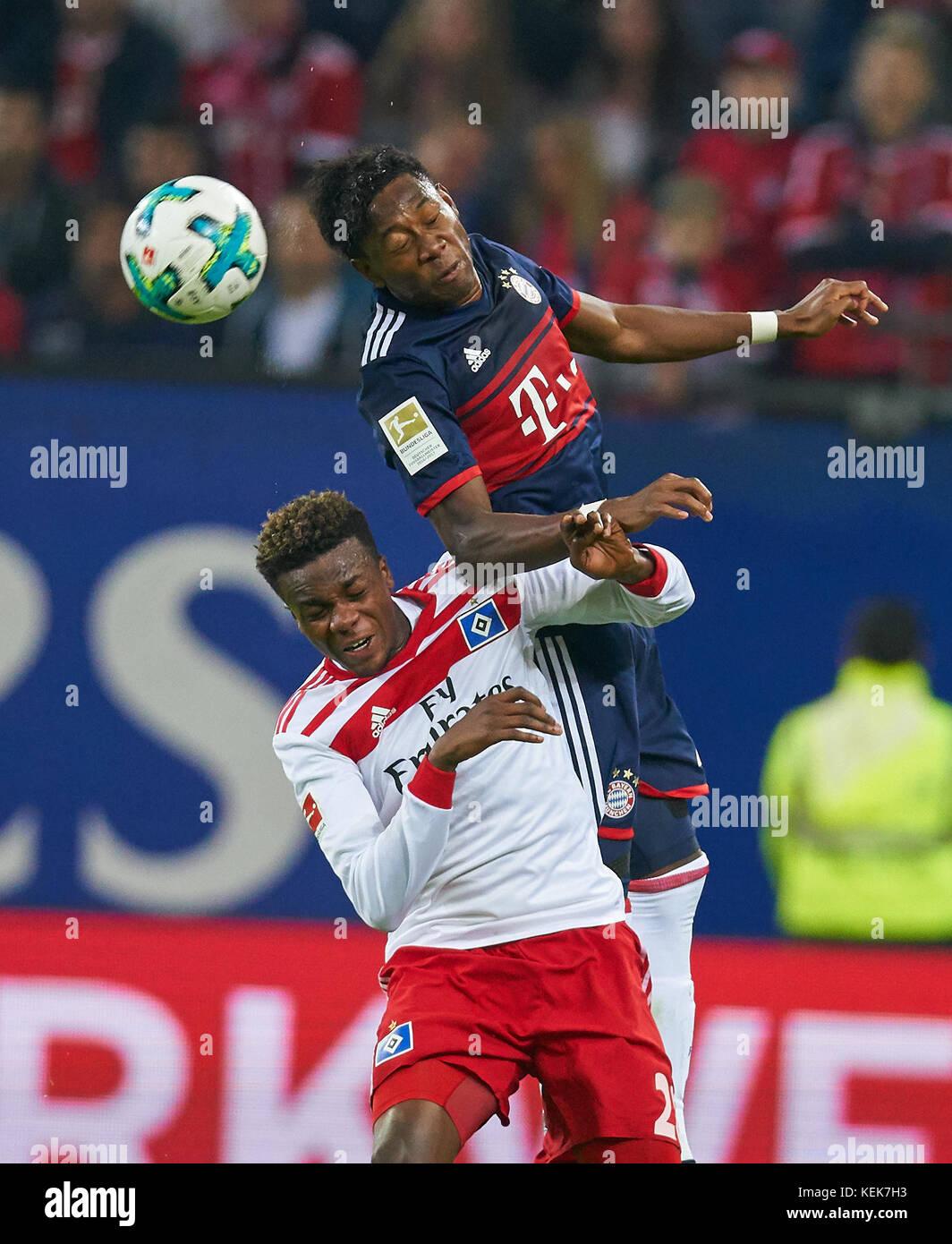 Hamburg, Germany. 21st October, 2017. 1. Div German Soccer League, Hamburg, October 21, 2017 David ALABA, FCB 27 - Stock Image