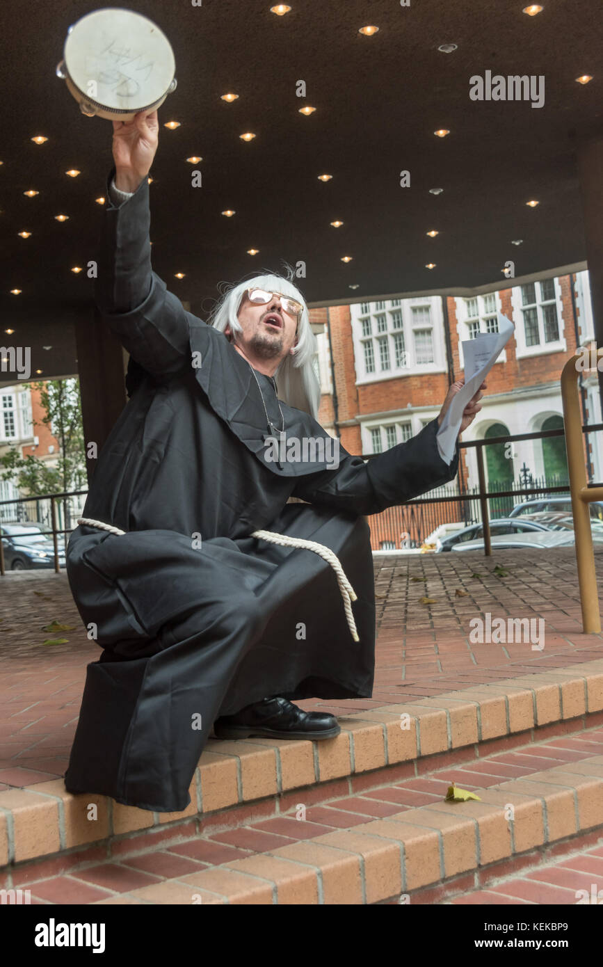 London, UK. October 21st 2017. On the 50th anniversary of the Yippee levitation of the Pentagon during anti-Vietnam - Stock Image