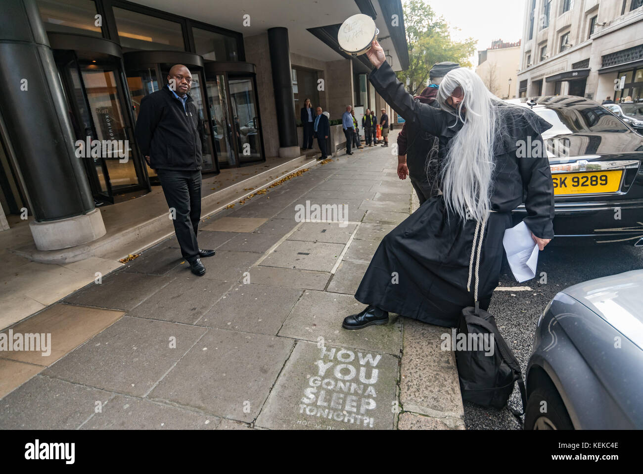 London, UK. October 21st 2017. Celebrating the 50th anniversary of the Yippee levitation of the Pentagon during - Stock Image