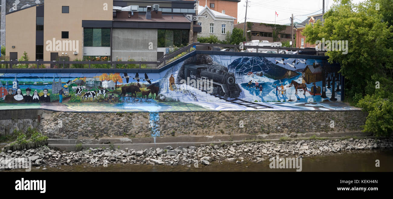 graffiti Baie-Sent-Paul, Quebec - Stock Image