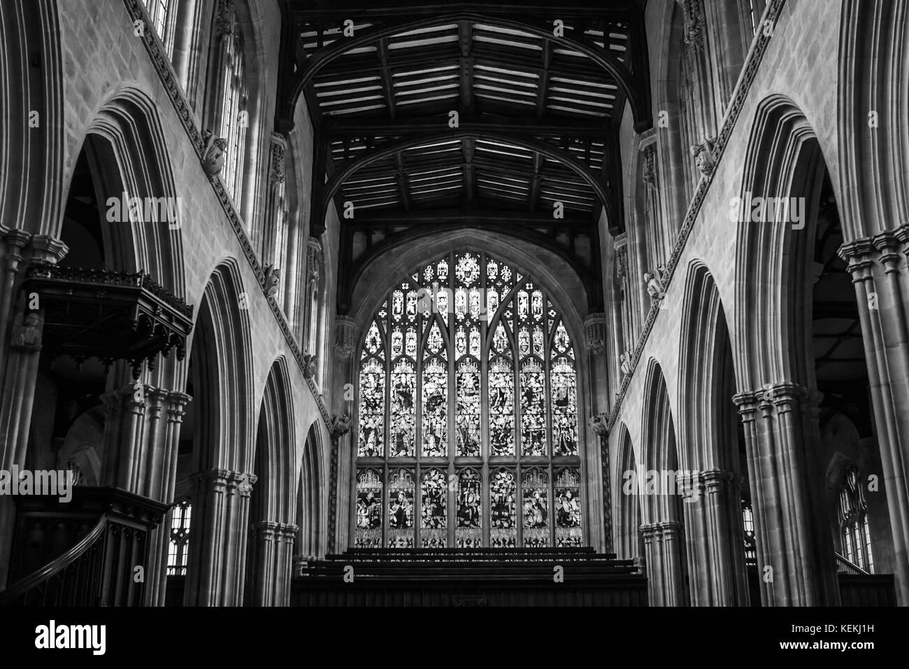 University Church of St Mary the Virgin, Oxford, England - Stock Image