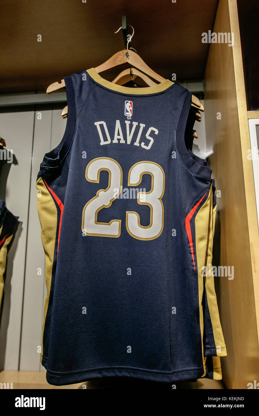790d3faf03e Replica jersey of Anthony Davis of New Orleans Pelicans on sale in the NBA  store in