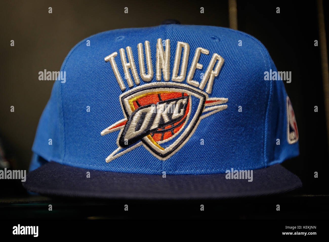 best service 51bc8 6d934 Oklahoma City Thunder hat on sale in the NBA store in ...