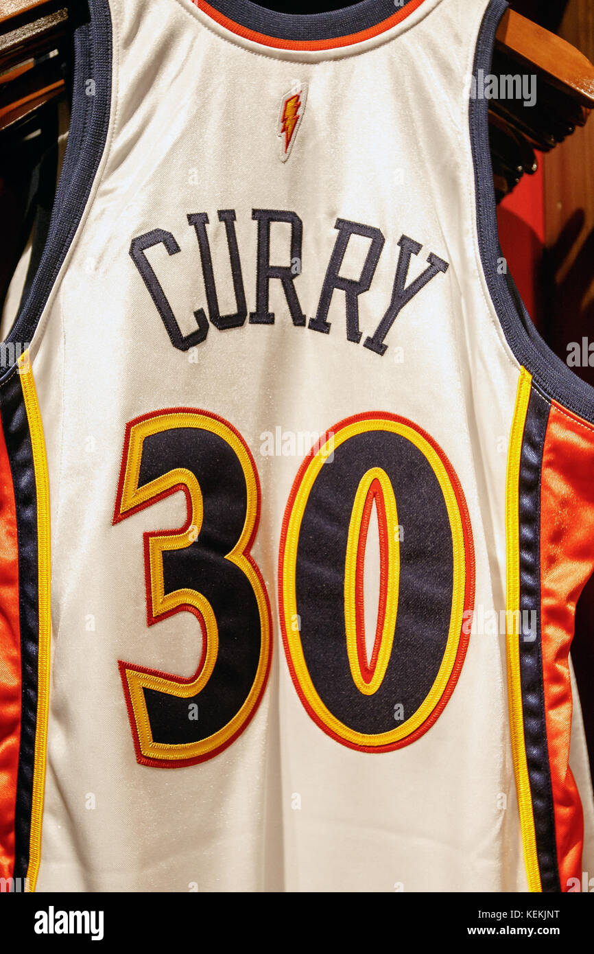 b25e862d3 Stephen Curry Hardwood Classics 2009-10 home authentic jersey from Mitchell    Ness on sale in the NBA store in Manhattan.
