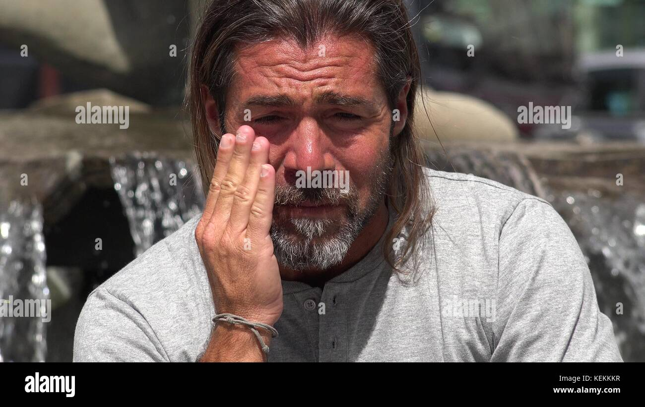 A Tearful Person - Stock Image