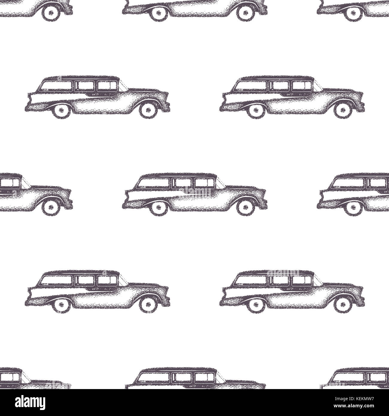 Surfing old style car pattern design. Summer seamless wallpaper with ...