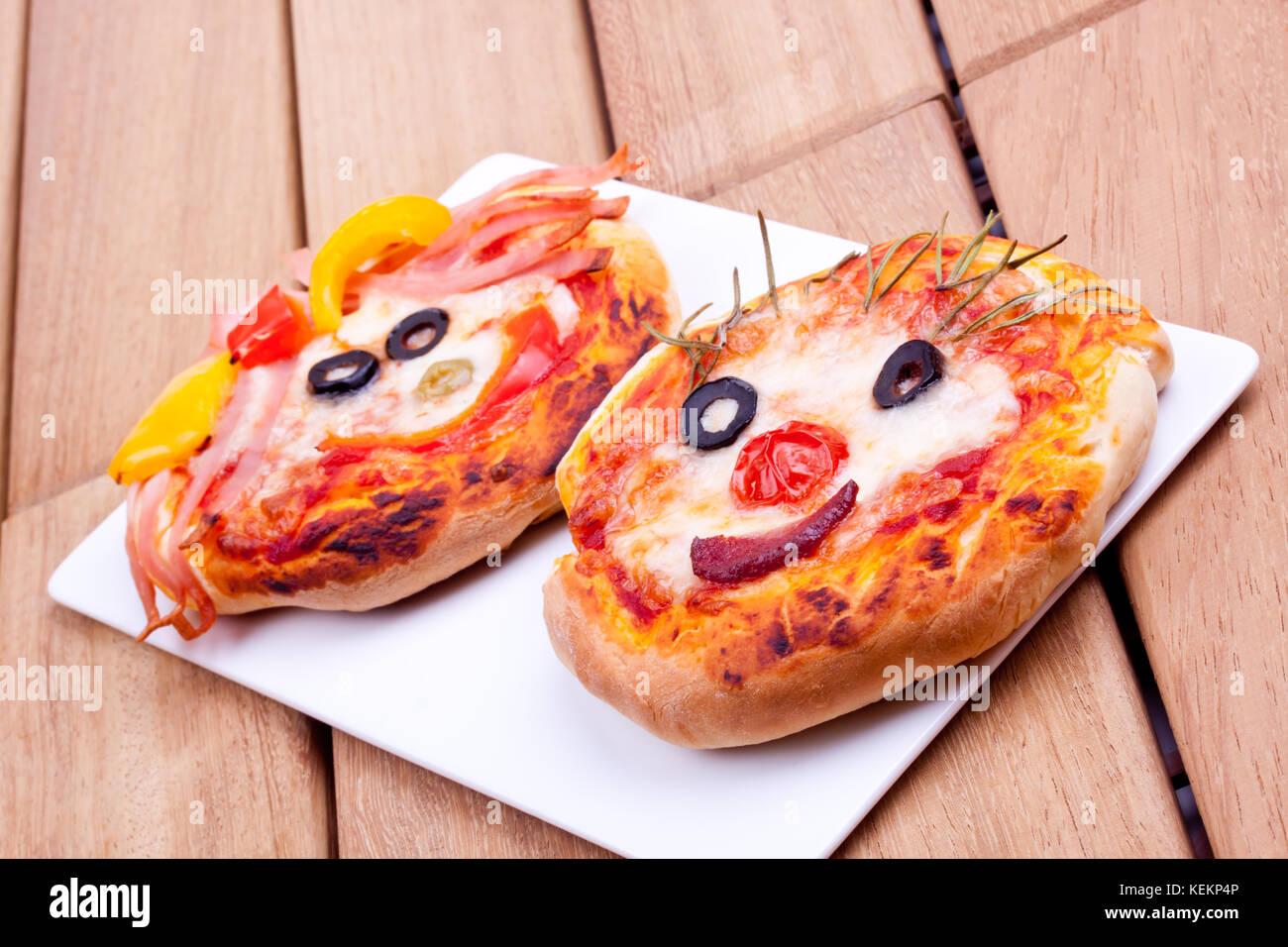 face shape pizza - Stock Image