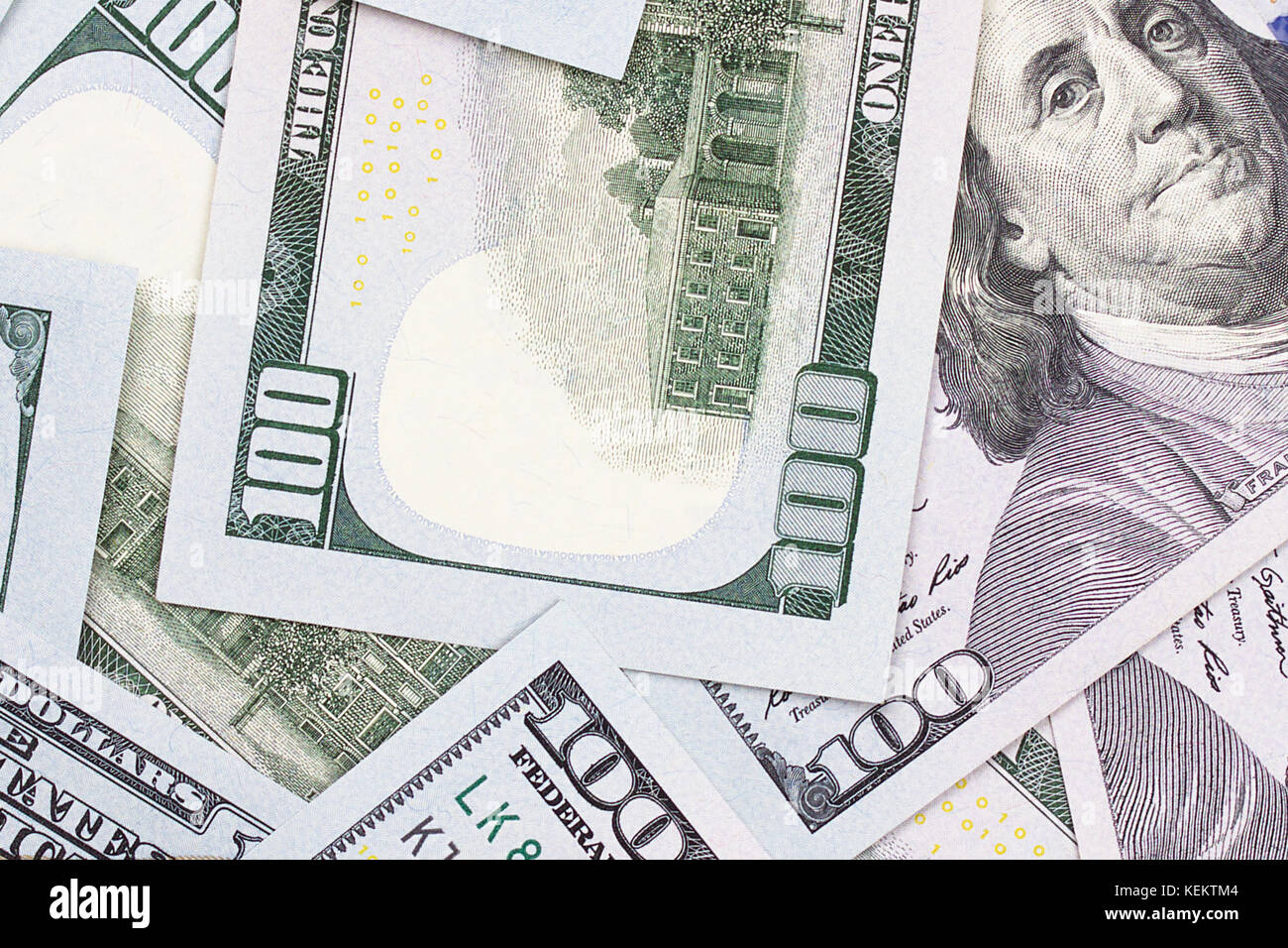 100 US dollar abstract money cash background - Stock Image