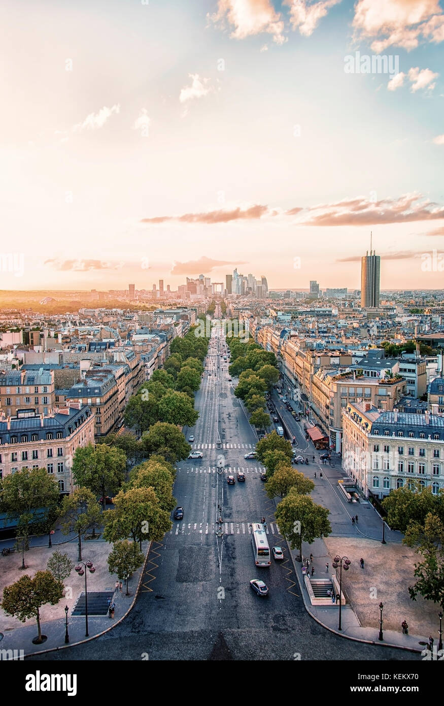 La Defense, business district in Paris - Stock Image