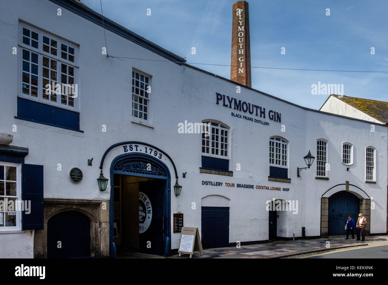Plymouth Gin Distillery, The Barbican, Plymouth, Devon, England, UK - Stock Image